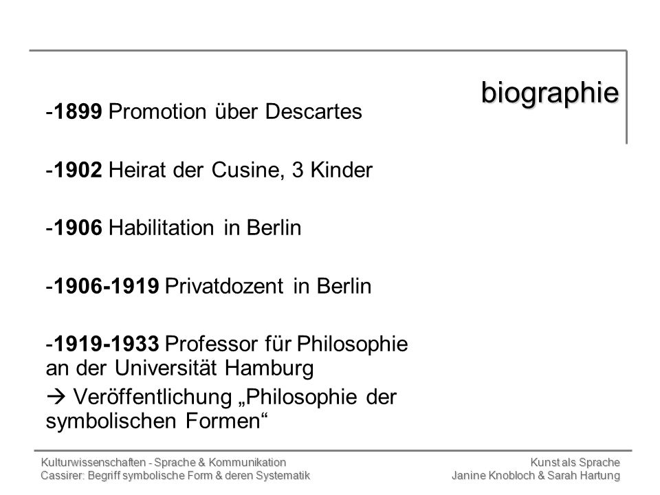 biographie 1899 Promotion über Descartes