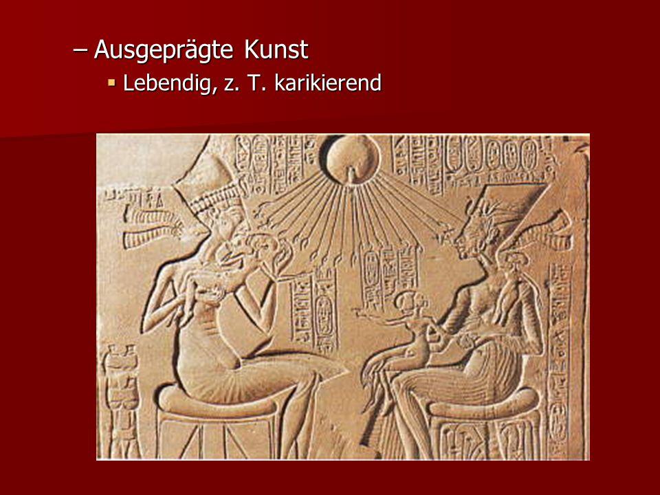 Ausgeprägte Kunst Lebendig, z. T. karikierend