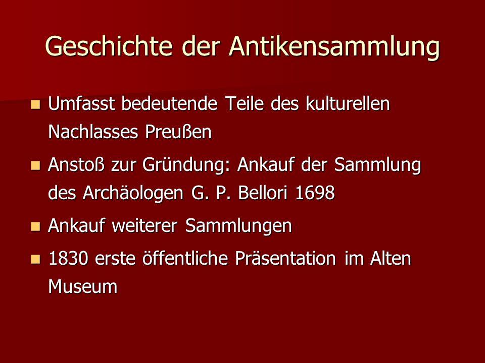 Geschichte der Antikensammlung