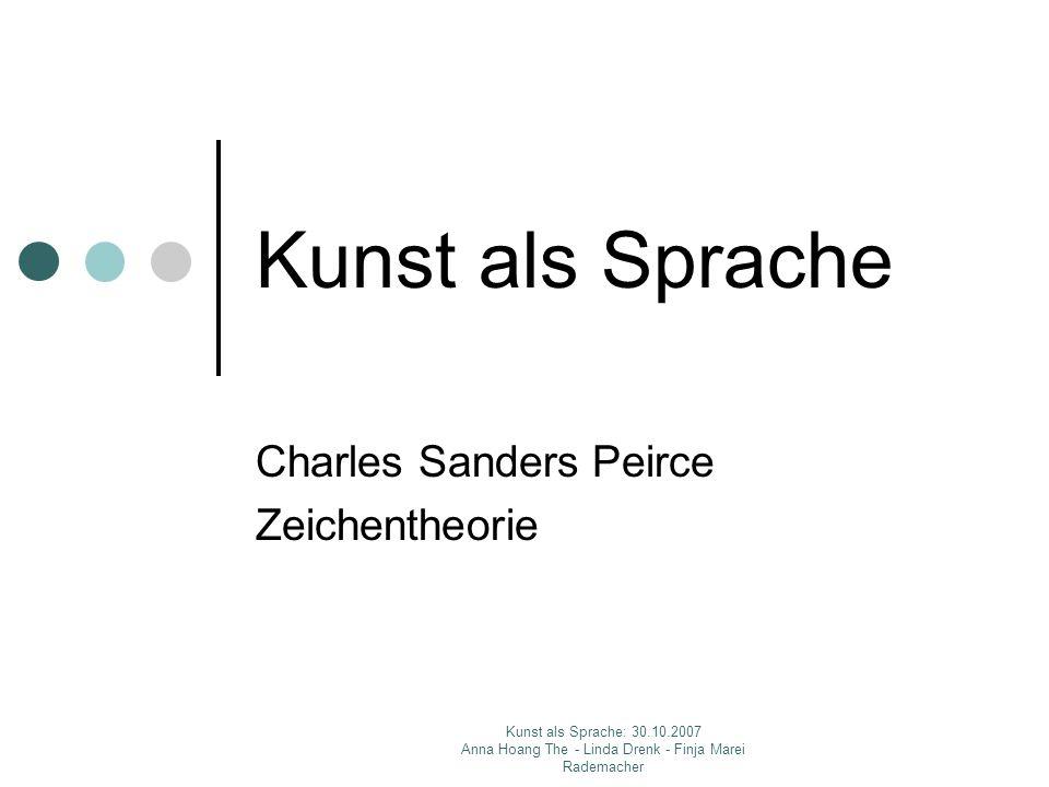Charles Sanders Peirce Zeichentheorie