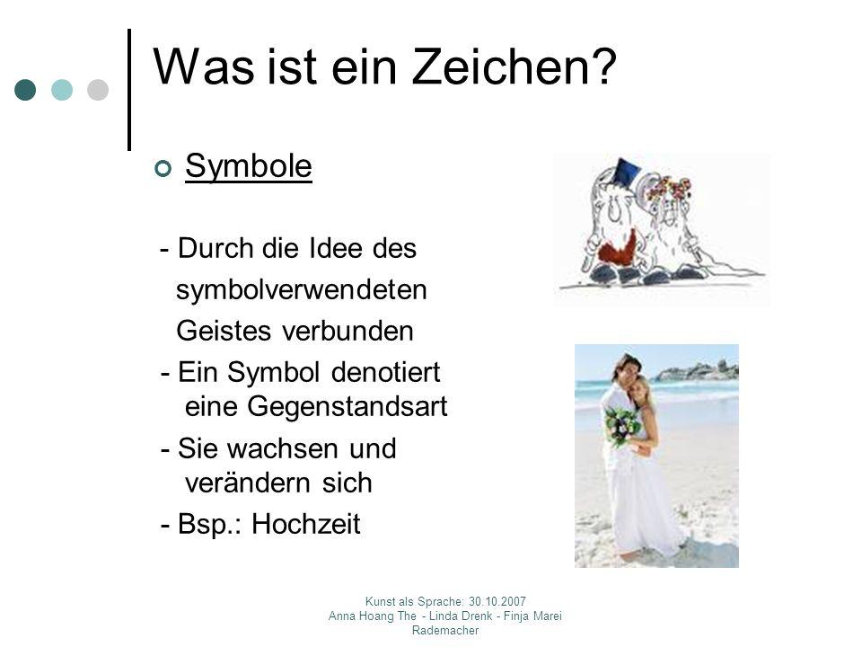 Was ist ein Zeichen Symbole symbolverwendeten Geistes verbunden