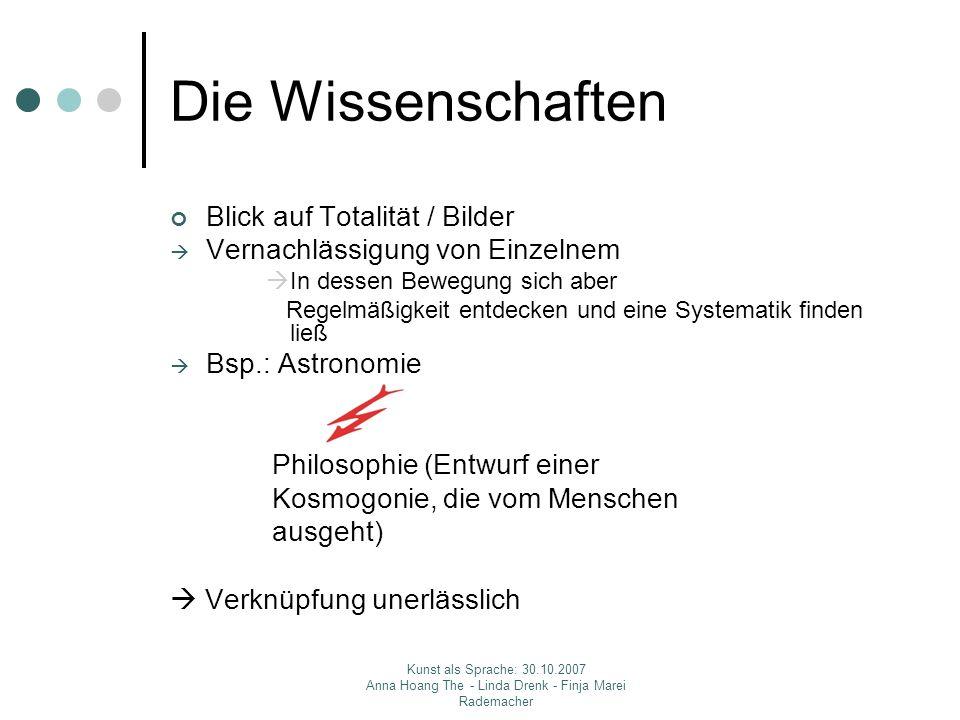 Die Wissenschaften Blick auf Totalität / Bilder
