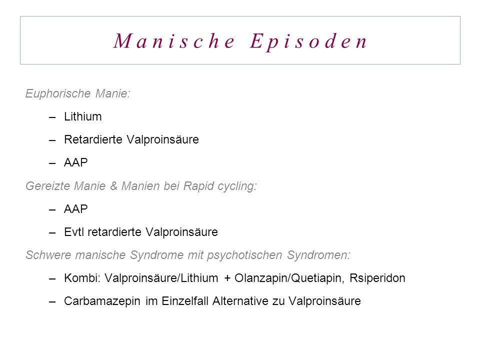 M a n i s c h e E p i s o d e n Euphorische Manie: Lithium