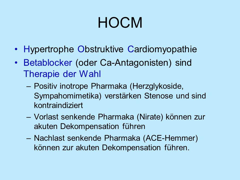 HOCM Hypertrophe Obstruktive Cardiomyopathie