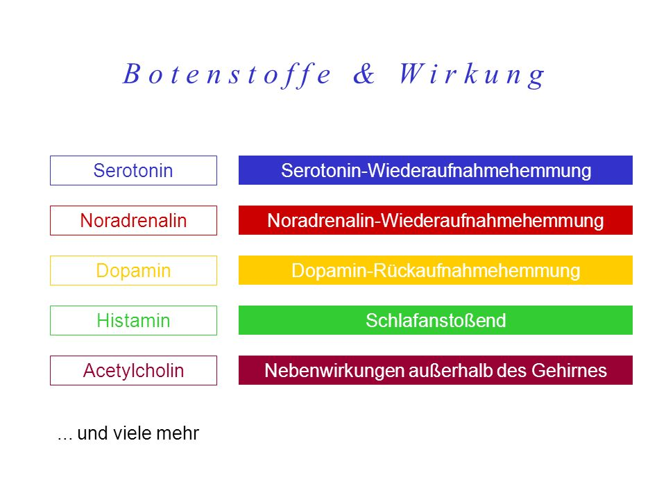 B o t e n s t o f f e & W i r k u n g Serotonin