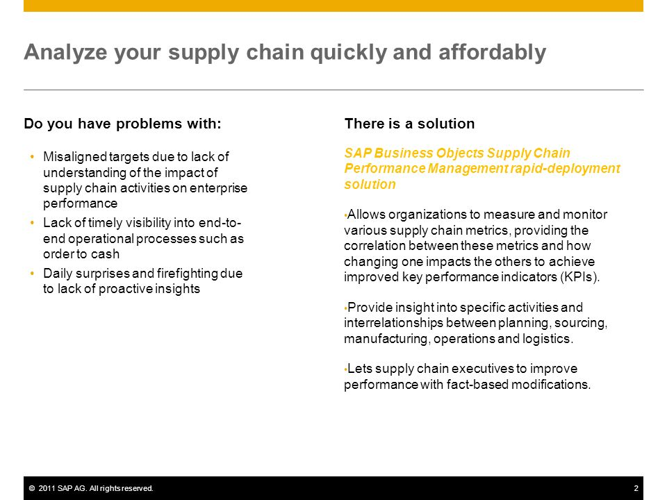Analyze your supply chain quickly and affordably