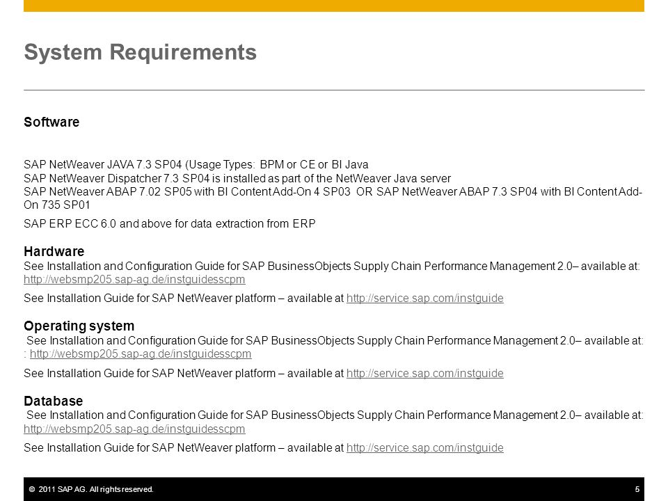 System Requirements Software