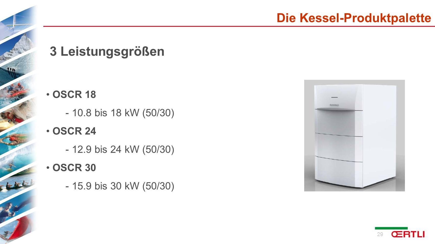 3 Leistungsgrößen Die Kessel-Produktpalette OSCR 18