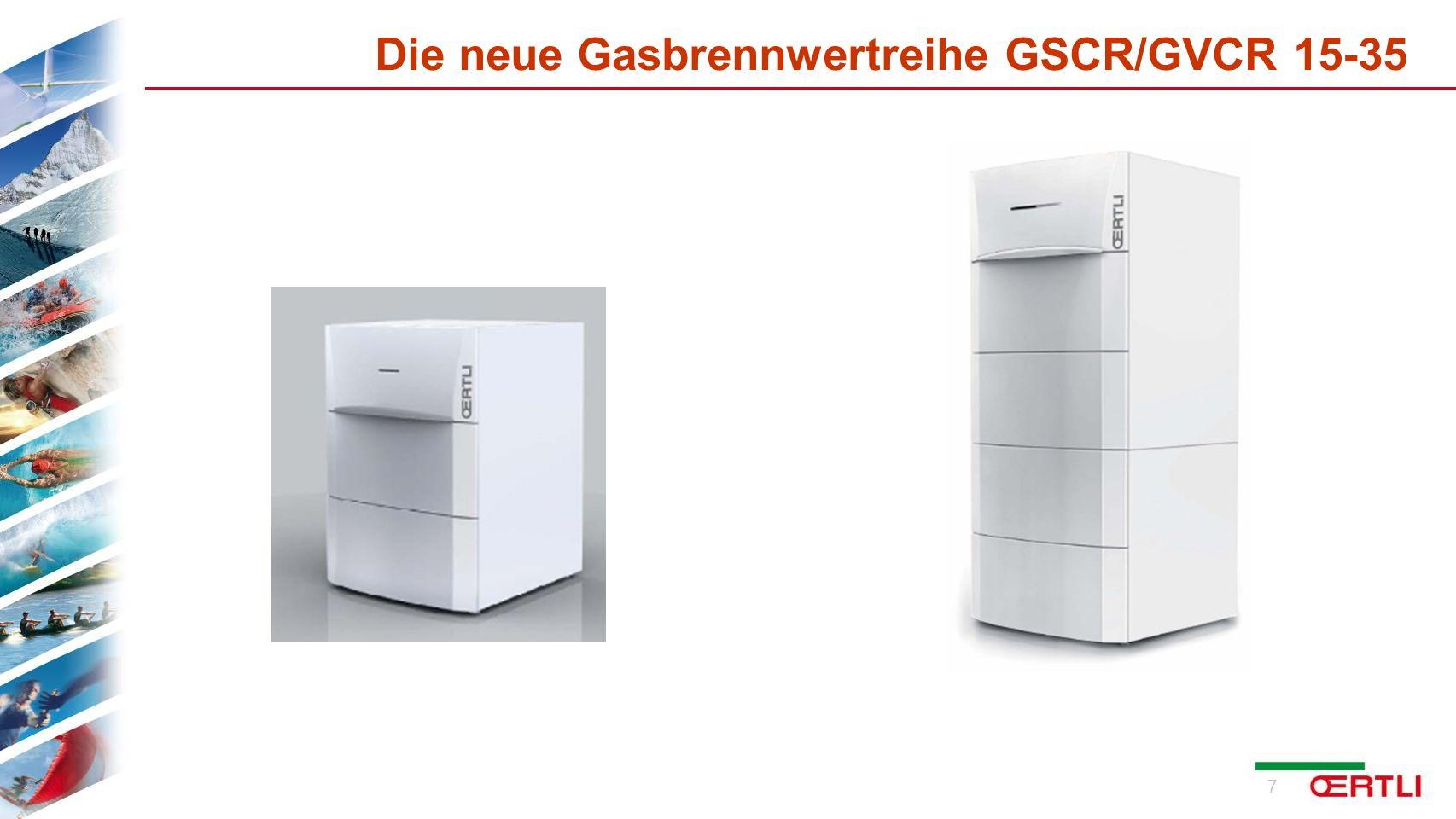 Die neue Gasbrennwertreihe GSCR/GVCR 15-35