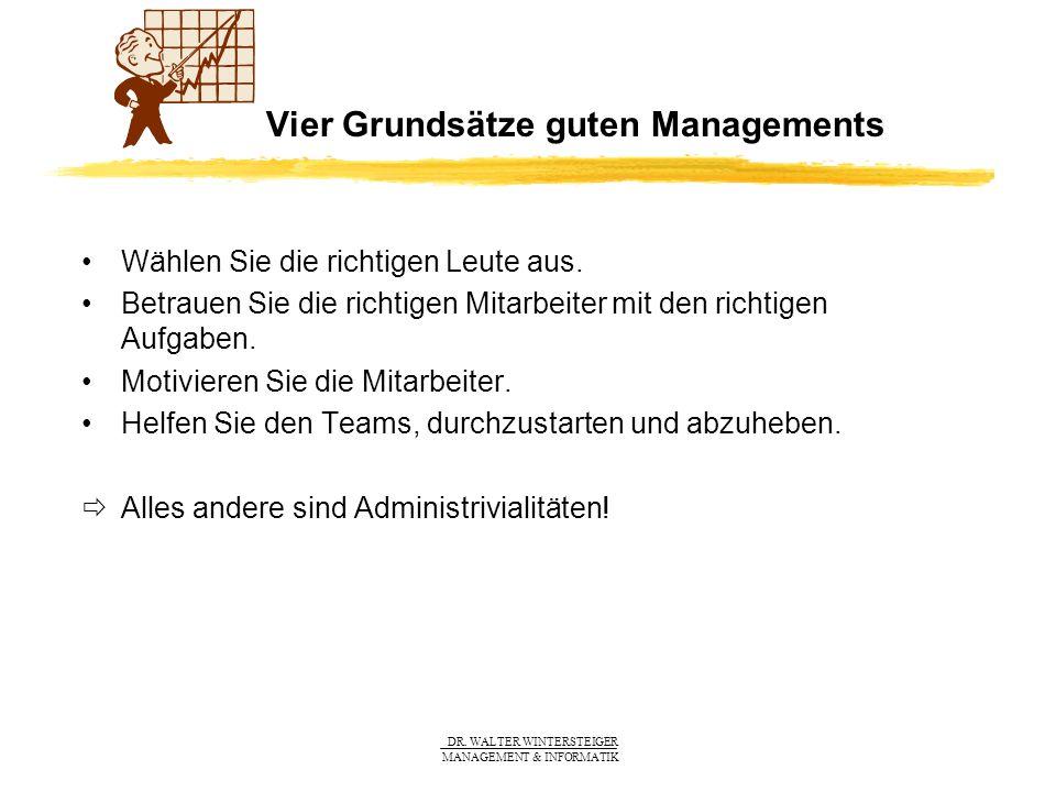 Vier Grundsätze guten Managements