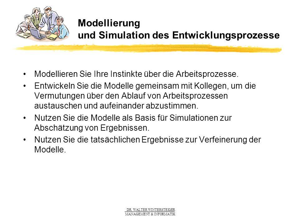 Modellierung und Simulation des Entwicklungsprozesse