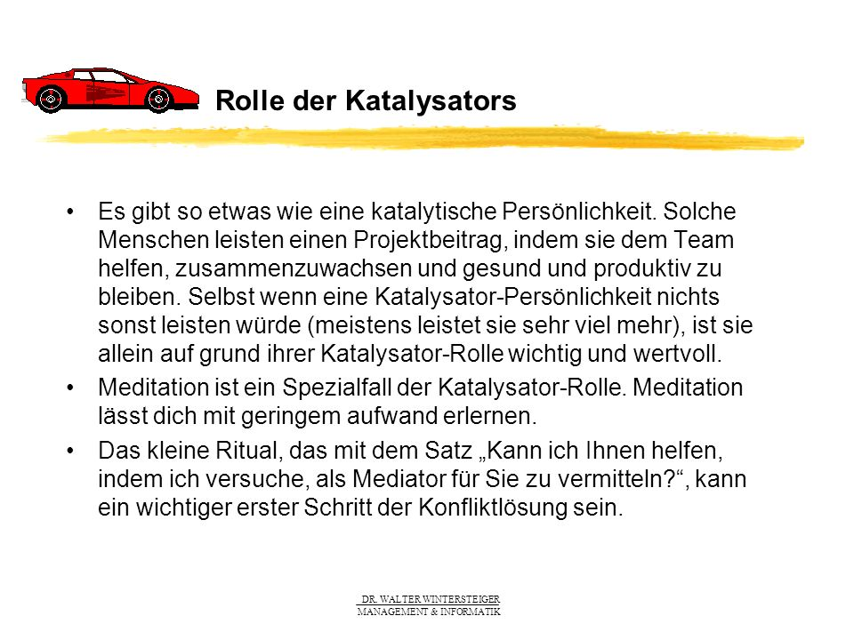 Rolle der Katalysators