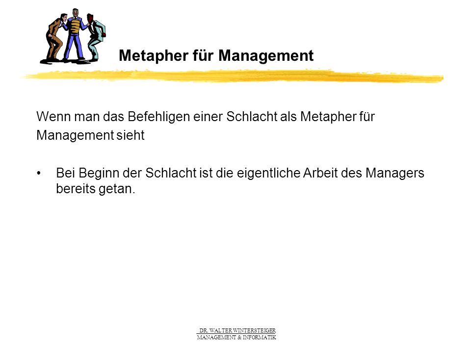 Metapher für Management