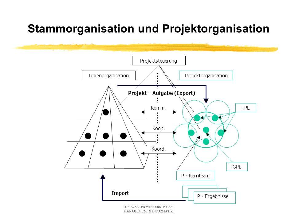 Stammorganisation und Projektorganisation