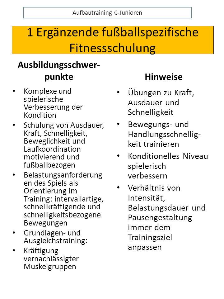 1 Ergänzende fußballspezifische Fitnessschulung