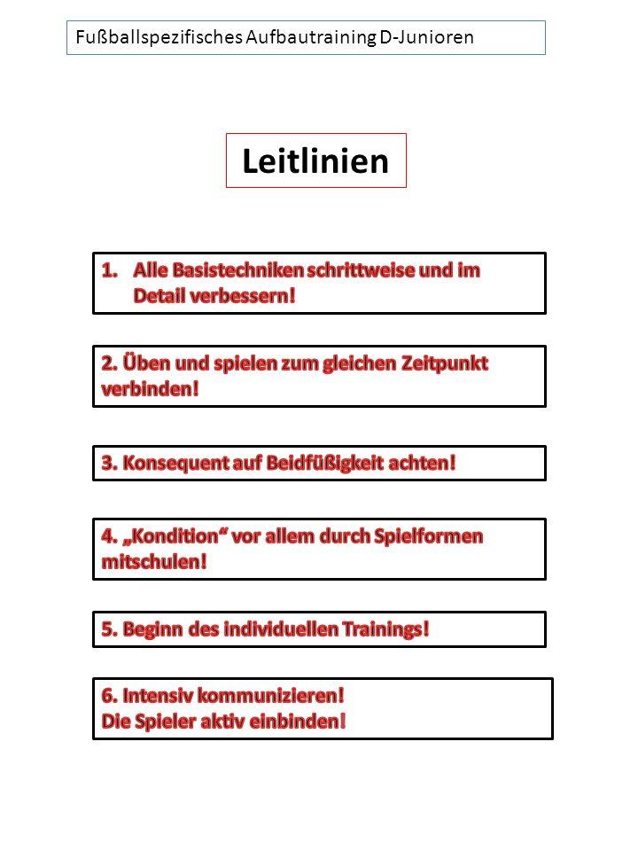 Leitlinien Fußballspezifisches Aufbautraining D-Junioren