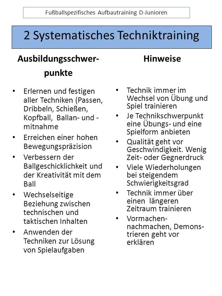 2 Systematisches Techniktraining