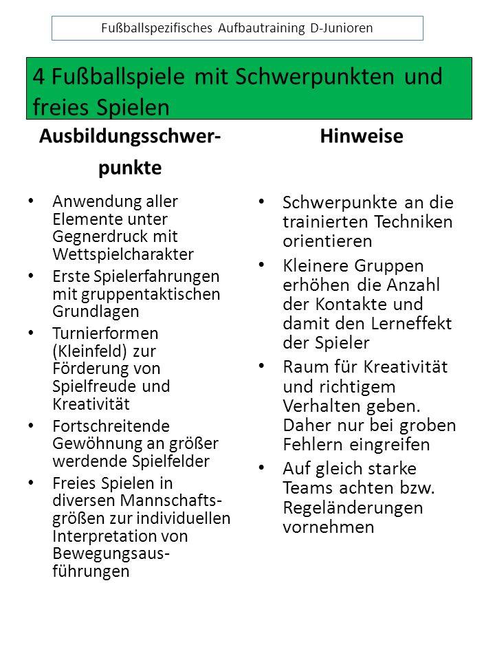 Fußballspezifisches Aufbautraining D-Junioren