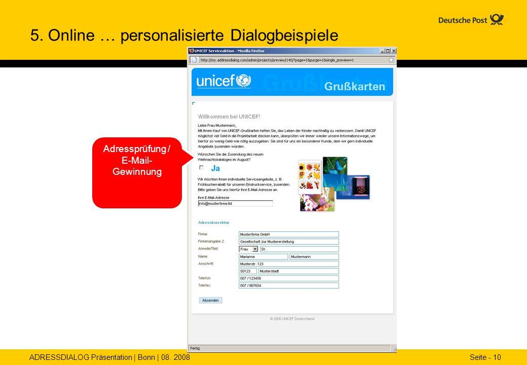Adressprüfung / E-Mail-Gewinnung