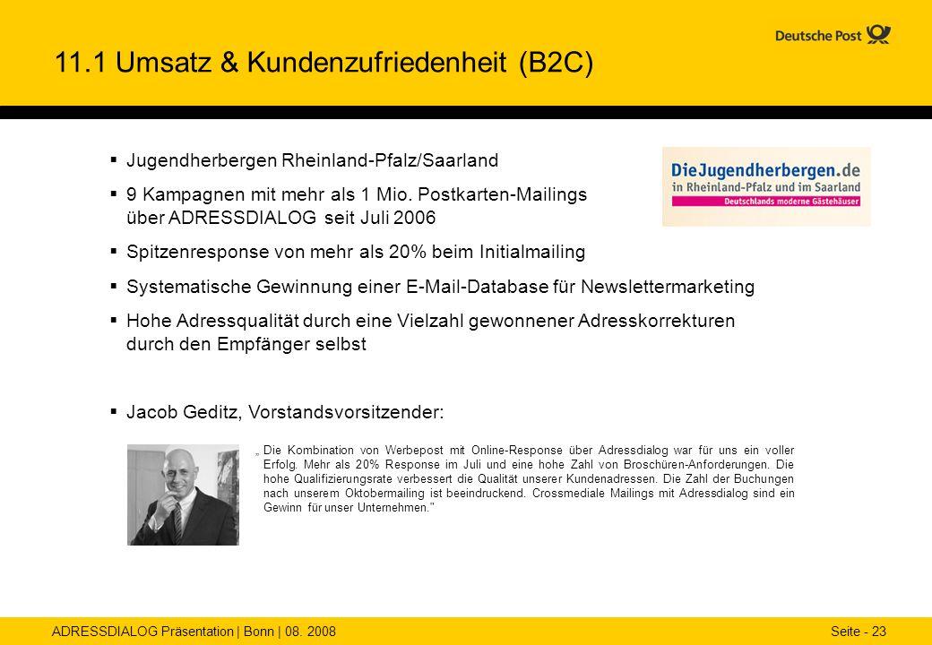 11.1 Umsatz & Kundenzufriedenheit (B2C)
