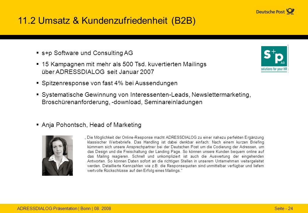 11.2 Umsatz & Kundenzufriedenheit (B2B)