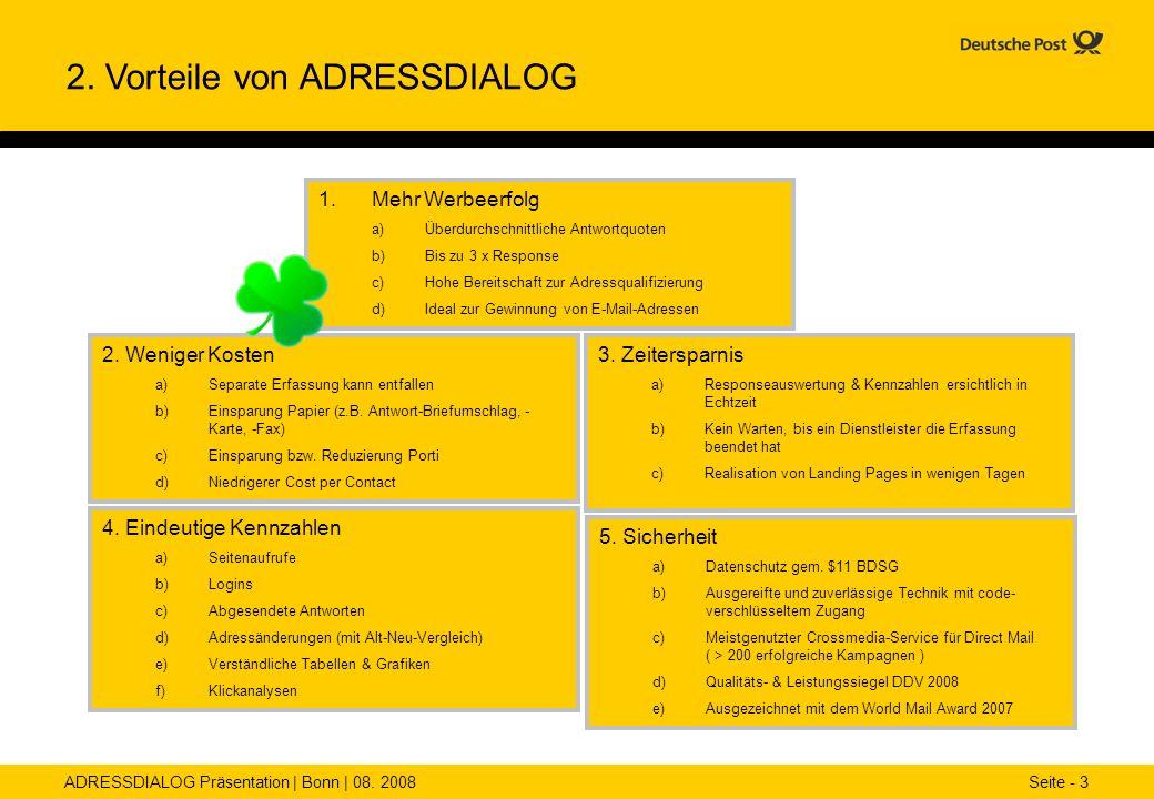 2. Vorteile von ADRESSDIALOG
