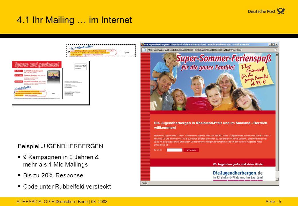4.1 Ihr Mailing … im Internet