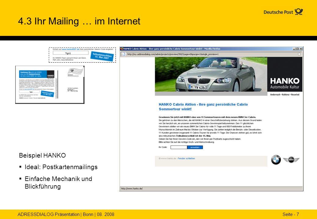 4.3 Ihr Mailing … im Internet