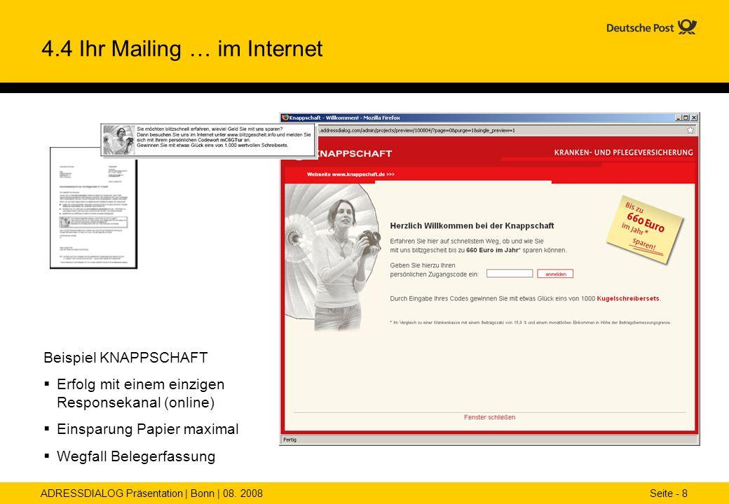 4.4 Ihr Mailing … im Internet