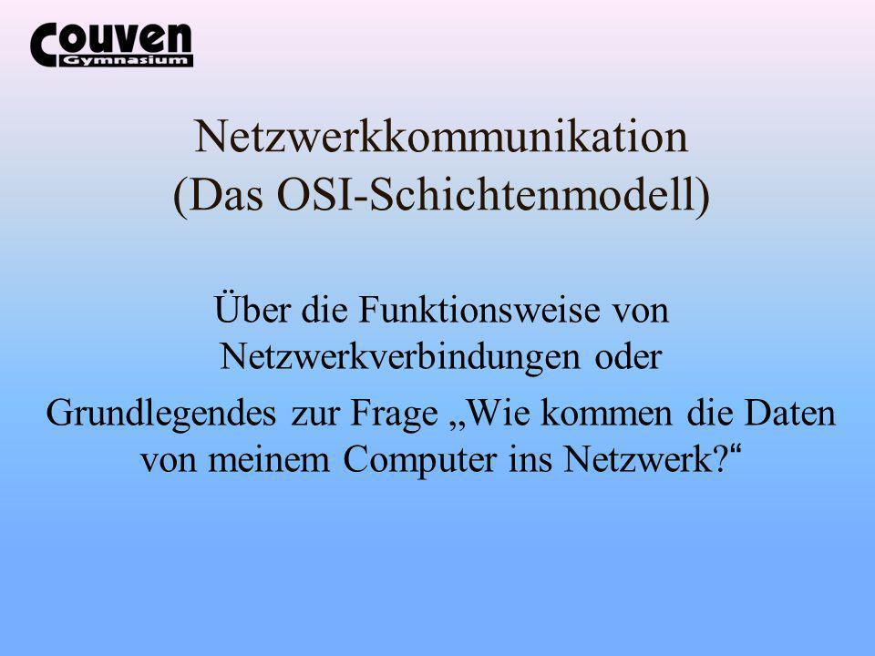 Netzwerkkommunikation (Das OSI-Schichtenmodell)