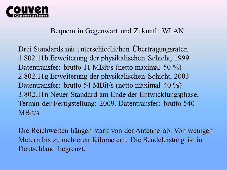 Bequem in Gegenwart und Zukunft: WLAN
