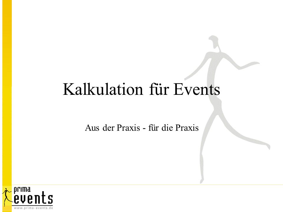 Kalkulation für Events