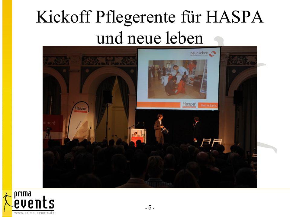 Kickoff Pflegerente für HASPA und neue leben