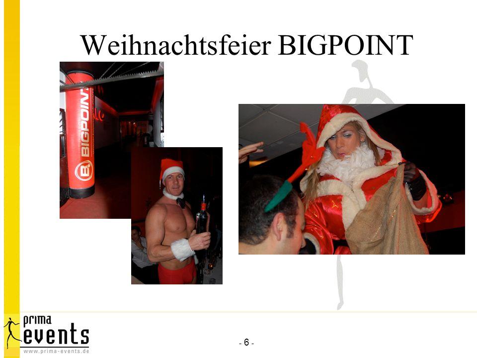Weihnachtsfeier BIGPOINT
