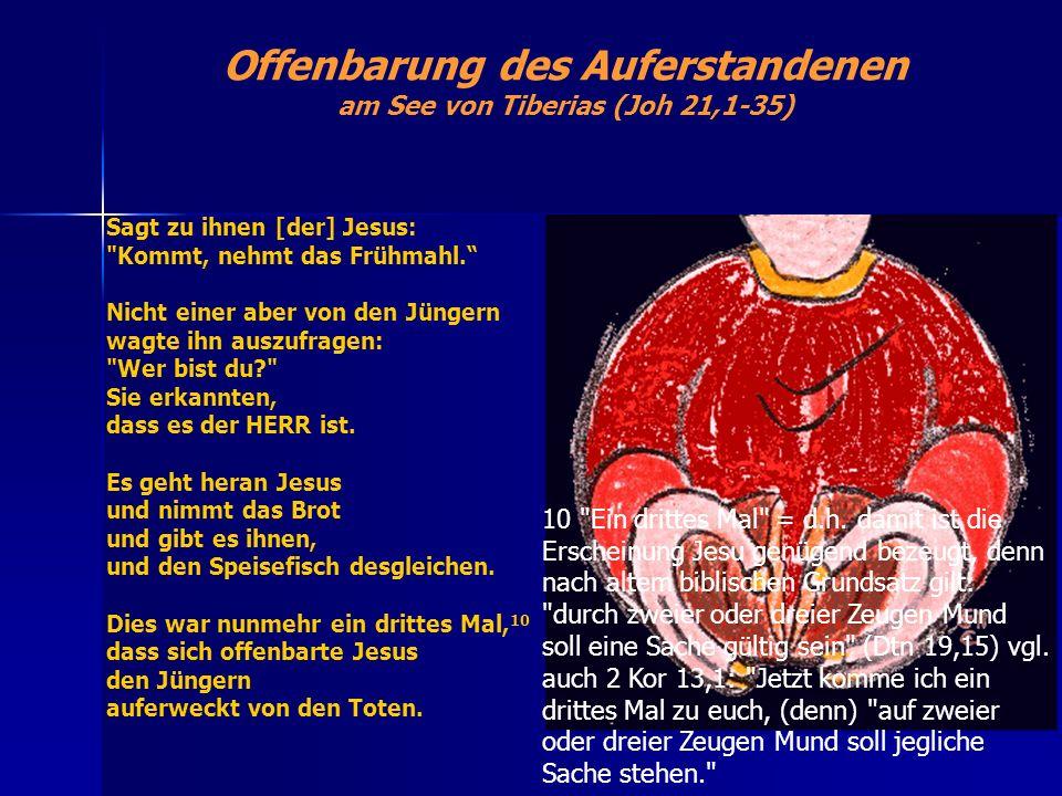 Offenbarung des Auferstandenen am See von Tiberias (Joh 21,1-35)