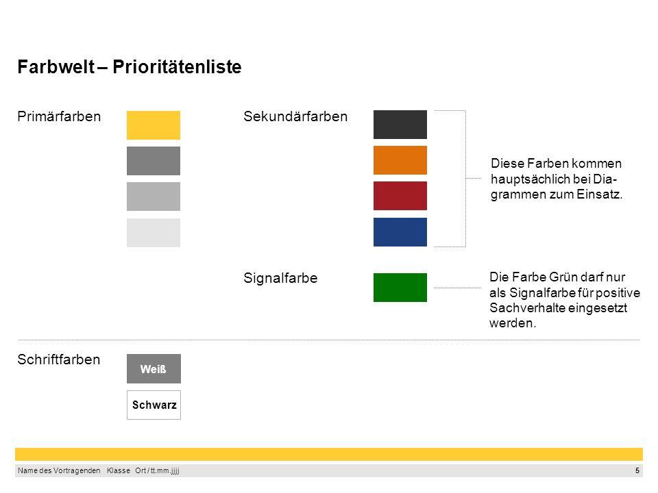 Farbwelt – Prioritätenliste