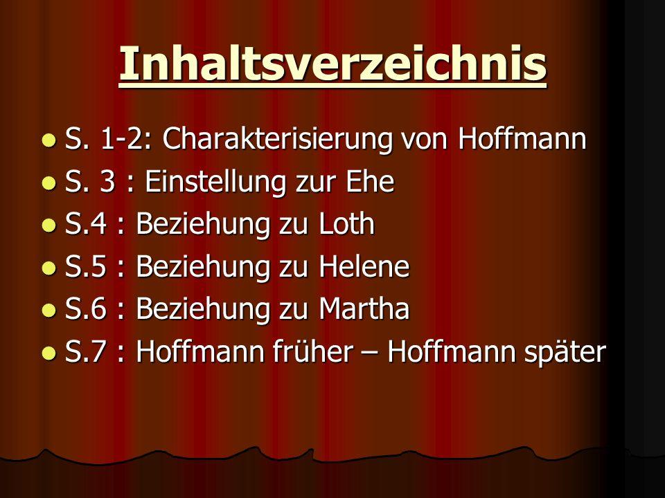 Inhaltsverzeichnis S. 1-2: Charakterisierung von Hoffmann