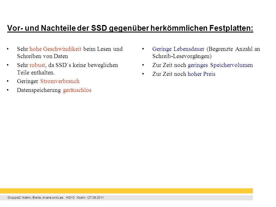 Vor- und Nachteile der SSD gegenüber herkömmlichen Festplatten: