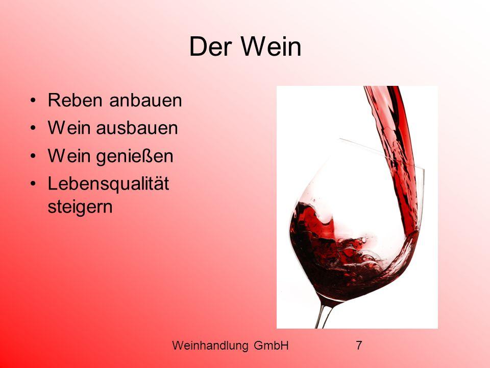 Der Wein Reben anbauen Wein ausbauen Wein genießen