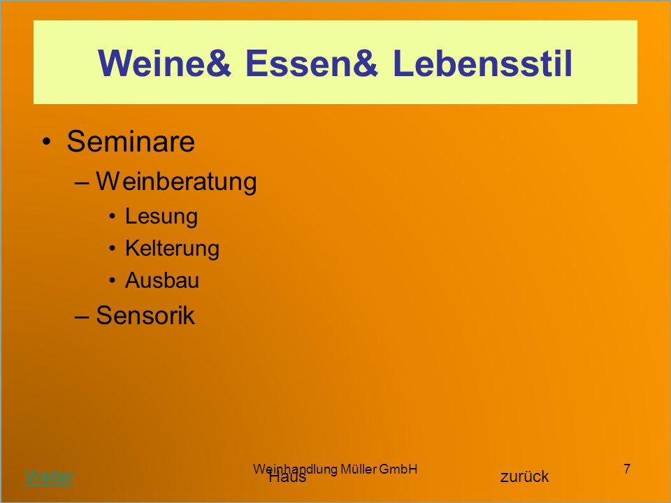 Weine& Essen& Lebensstil
