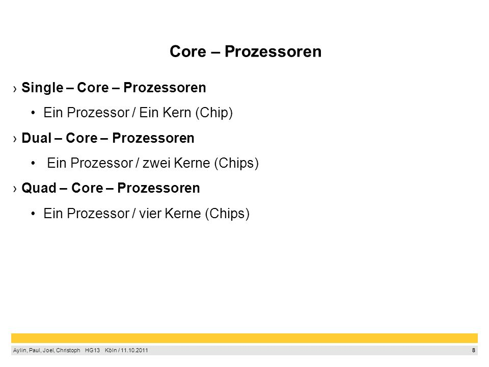 Core – Prozessoren Single – Core – Prozessoren