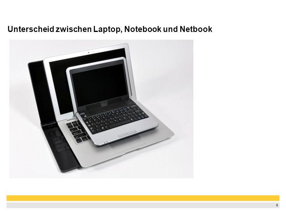 Unterscheid zwischen Laptop, Notebook und Netbook