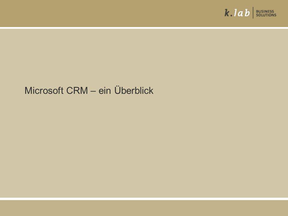 Microsoft CRM – ein Überblick