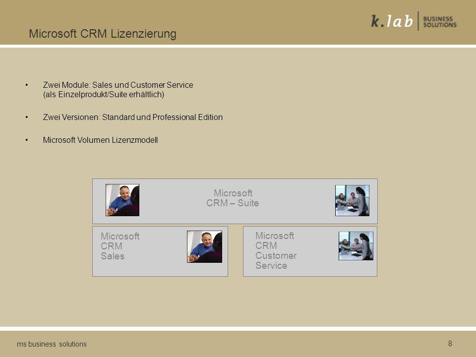 Microsoft CRM Lizenzierung