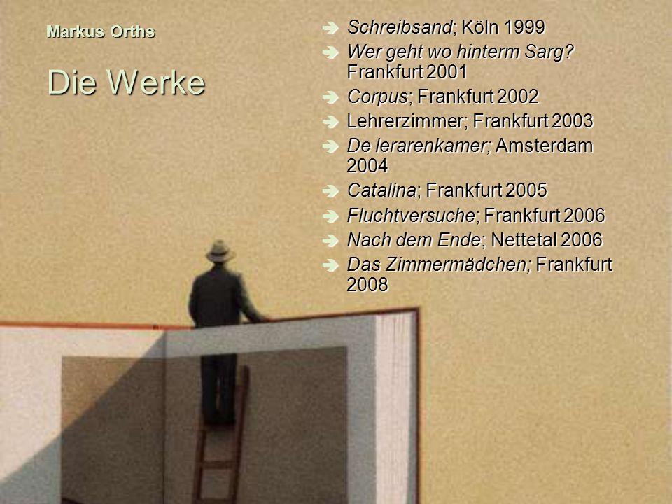 Wer geht wo hinterm Sarg Frankfurt 2001 Corpus; Frankfurt 2002