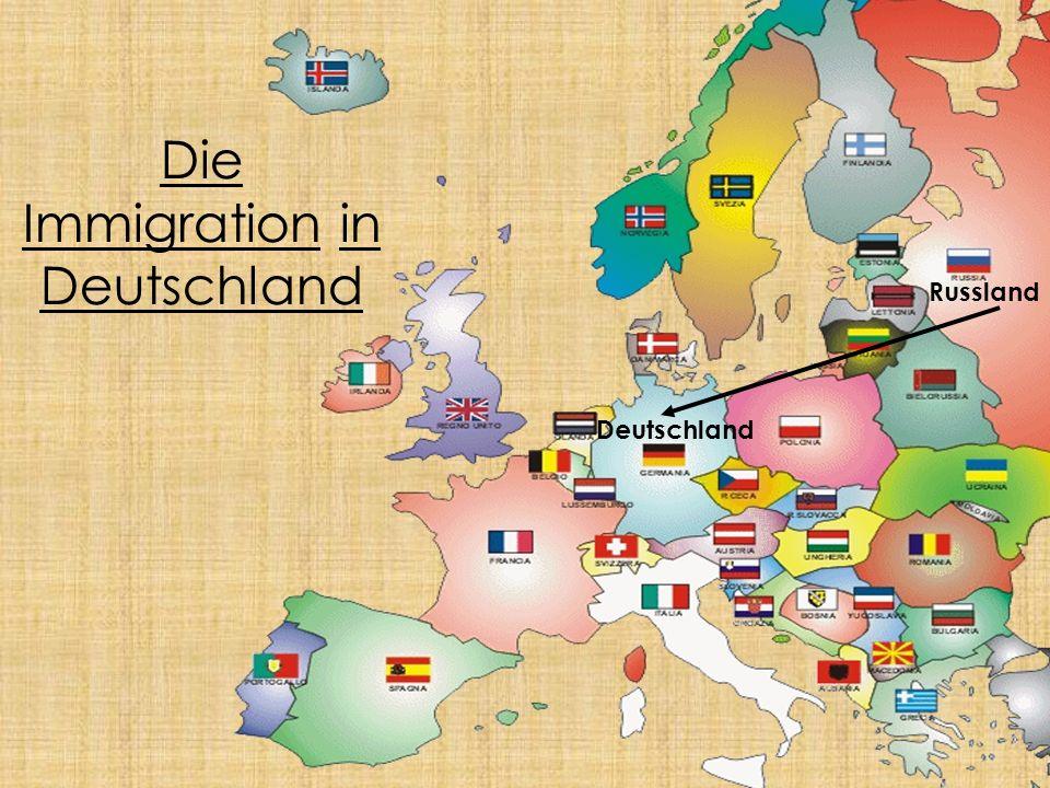 Die Immigration in Deutschland