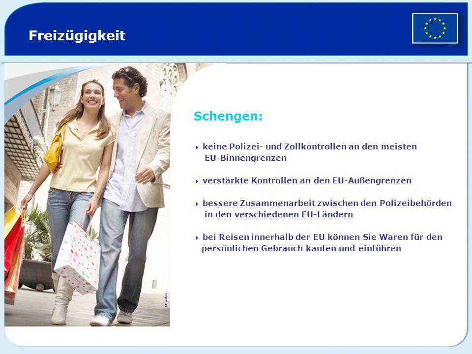 Freizügigkeit Schengen: EU-Binnengrenzen