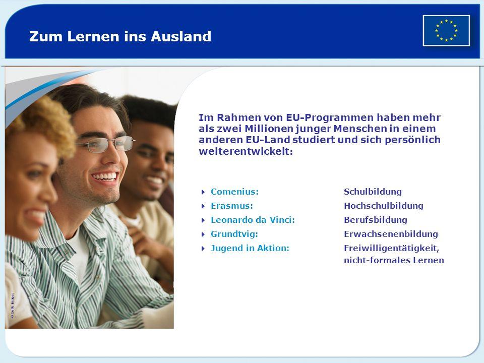 Zum Lernen ins Ausland
