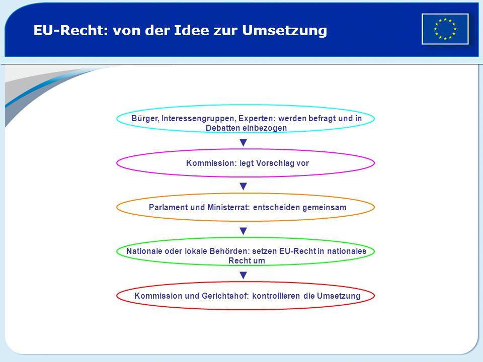 EU-Recht: von der Idee zur Umsetzung