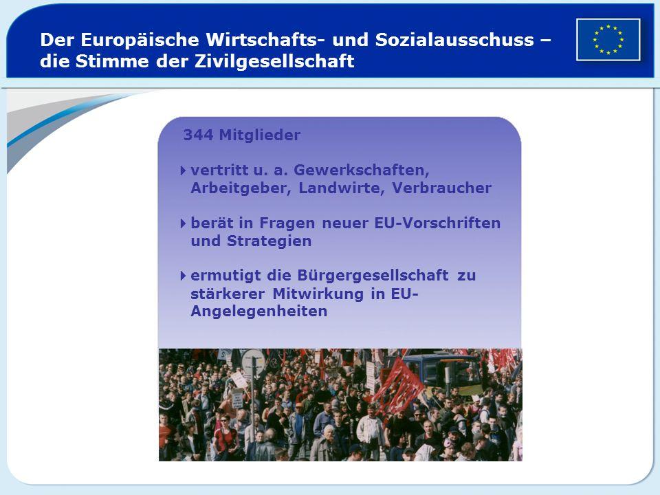 Der Europäische Wirtschafts- und Sozialausschuss – die Stimme der Zivilgesellschaft